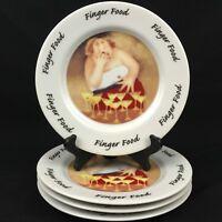 Set of 4 Salad Dessert Plates by House Of Prill Erika Oller 2000 Finger Foods