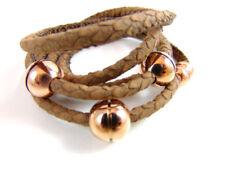 Modeschmuck-Armbänder aus Edelstahl Rosegold für Damen