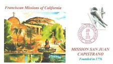 MISSION SAN JUAN CAPISTRANO California Franciscan Mission Swallows Envelope Hand