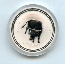 AVC17- 2009 Australian Lunar Year of the Ox One Ounce Silver Dollar (CAP)