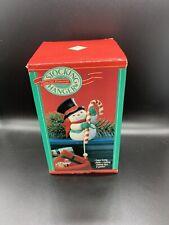1989 Hallmark Stocking Hanger ~ Cheerful Snowman