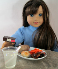 AG Doll Miniature Roast Beef, Potato and Carrot Dinner with Drink and Dessert