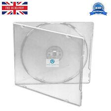 200 CD DVD de un solo tamaño medio Delgado claro caso de 10 mm Con Funda HQ AAA Transparente NUEVO