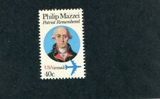 Error  C 98   Philip Mazzei, red color shift.  40 cent.  Issued in 1980.