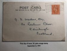 1941 Exeter England First Day Postcard Cover FDC To Edinburgh Scotland