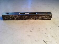 Antique Stanley Machinists Level No. 39 1/2 Cast Iron Ornate Scroll Design