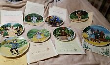 Knowles Complete Set of 8 Wizard of Oz Collector Plates With Certificates 1979