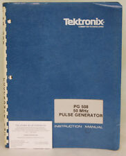 Tektronix PG508 50 MHz Pulse Generator Instruction Manual