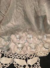 Set of 8 Grand Marnier Cocktail Martini Glasses White Lettering