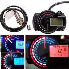 Universal RPM 15000 LCD Digital Motorcycle Odometer Speedometer Tachometer Gauge