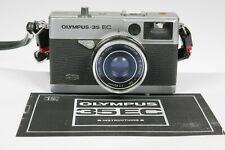 Vintage 1969 Olympus 35 EC 35mm Film Camera 42mm f/2.8 Lens
