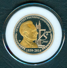 Quezon City 75th Founding Anniversary Commemorative Philippine Coin / Medal