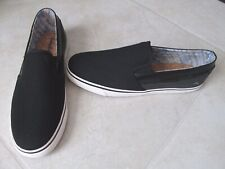 NEW Tommy Bahama Exodus Slip-On Loafers MENS Size 9 Black Mesh/Canvas $65.