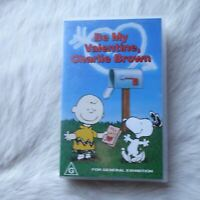 BE MY VALENTINE, CHARLIER BROWN VHS Video Tape Children CARTOONS Animation Humor