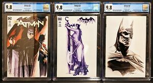 BATMAN #50 ALEX ROSS VARIANT SET - CGC 9.8 / White Pages - 3 Graded Books