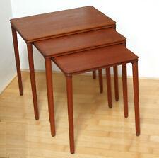 3 Satztisch, Beistelltisch, Teak,60er,dänisch modern, nesting tables,mid century
