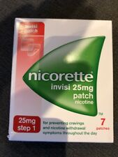 Nicorette Invisi 25mg Patches - Step 1 - 7 Patches UK SELLER FREE POST