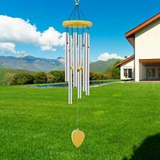 Windchime Wind Chimes Deep Tone Outdoor GardenGarden/Patio Home Decor -Silver