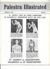 1963-64 Palestera Doubleheader Program St. Joe's Georgetown Villanova Bonnies!!