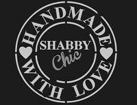 SHABBY CHIC VINTAGE STENCIL SCHABLONE KISSEN GARDINEN, MÖBEL ,STUHL, LEINEN A3
