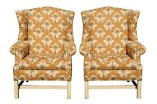 Palm Tree Wingback Chairs - a Pair