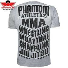 Phantom Athletics t-shirt MMA Sports gris fitness Sport artes marciales Camisa Caballero