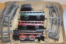 OTTMAR BECKH Blecheisenbahn Dampf Lok Tender Personenwagen (1D)