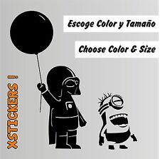 Sticker Vinilo - Minion & Baby Vader - Star Wars - Vinyl -Pegatina -Darth Vader