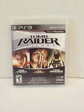 Ps3 - Tomb Raider: Trilogy - Complete Cib w/ Manual - Tested - Excellent Disc!