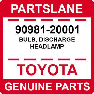 90981-20001 Toyota OEM Genuine BULB, DISCHARGE HEADLAMP