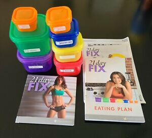 Beach Body 21 day Fix w/ Portion Containers, DVDS, Book
