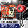 2 Ton Block and Tackle 2.5M Chain Block Hoist Crane Chain Lifting Pull