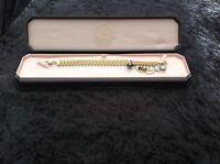 NEU OVP Juicy Couture Neu Original Gold Armband Mit Gelb Steine & Charms