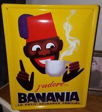 Plaque Metal 40x30cm Pub Retro Chocolat BANANIA 2