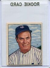 1950 Bowman Baseball Card Hank Bauer ROOKIE New York Yankees Near Mint # 219
