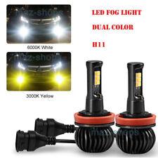 2pcs LED H11 H8 H9 bulbs White/Yellow 3000K Dual Color Car Fog Light kit 12V