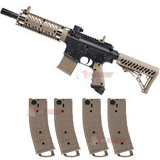 Tippmann TMC Paintball Gun Magfed Milsim Magazine Marker with 4 Pack Magazines
