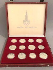 Münzen-Olympiade Moskau 1980-28 Stück-14x 5 Rubel-14x 10 Rubel-Box-Art. 6112