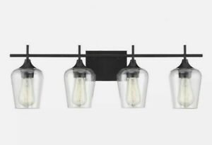 4 Light Bath Bar - Transitional Style with Contemporary and Bohemian