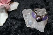 Silberring Edelsteinring Silber 925 Jade,Perle  Große-63 (20,0 mm )