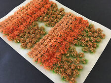 Orange Flowers & Bushes Mix - Static Grass Tufts Model Scenery Wargames Railway