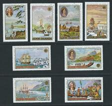 1968 COOK ISLANDS Bicentennary Captain Cook's First Voyage Set MNH (SG 269-276)