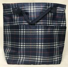 Homespon Reusable Insulated Lunch Bag w/Zippered Enclosure & Front Pocket, Plaid