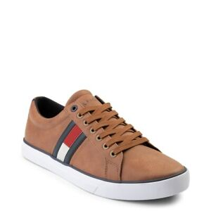 Brand NEW Mens Tommy Hilfiger Revel Shoe Flag Brown Sneakers