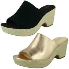 Ladies Clarks Maritsa Mule Espadrille Style Wedge Sandals