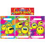12 Smiley Face Empty Party Bags - Toy Loot Gift Wedding/Kids Plastic