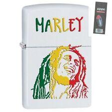 Zippo 29308 Bob Marley White Matte Finish Full Size Lighter + FLINT PACK
