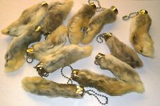 Original LUCKY Rabbit Foot Key Ring // Good Luck Charm Pendant - Natural Colour