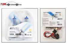 NOKYA H4 HB2 9003 Cosmic White 5000K 100/90W Halogen Light Bulbs+Wire Harnesses