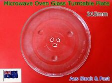 Microwave Oven Glass Turntable Plate Platter 315 mm Suits Many Brand (A63) New